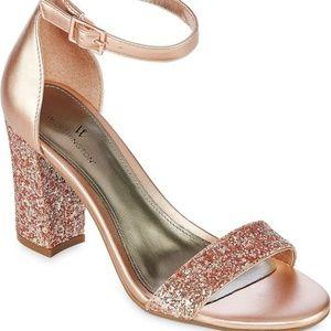 Worthington Rose Gold Beckwith Heels Block Sandals